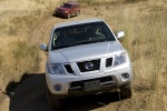 2013 Nissan Frontier King Cab PRO-4X 4WD in Brilliant Silver - Driving Frontal View
