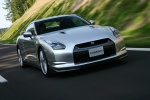 2010 Nissan GT-R Coupe in Super Silver 3-Coat Metallic - Driving Front Right View