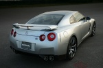 2010 Nissan GT-R Coupe in Super Silver 3-Coat Metallic - Static Rear Right View