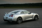 2010 Nissan GT-R Coupe in Super Silver 3-Coat Metallic - Static Rear Right Three-quarter View