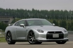 2010 Nissan GT-R Coupe in Super Silver 3-Coat Metallic - Static Front Right Three-quarter View