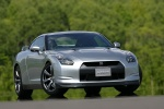 2010 Nissan GT-R Coupe in Super Silver 3-Coat Metallic - Static Front Right View