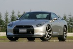 2010 Nissan GT-R Coupe in Super Silver 3-Coat Metallic - Static Front Left View