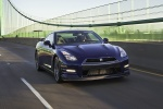2013 Nissan GT-R Coupe in Deep Blue Pearl - Driving Front Right View