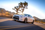 2014 Nissan GT-R Coupe in Pearl White - Driving Front Left View