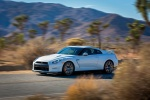 2014 Nissan GT-R Coupe in Pearl White - Driving Front Left Three-quarter View