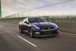 2014 Nissan GT-R Coupe in Deep Blue Pearl - Driving Front Right Three-quarter View