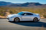 2014 Nissan GT-R Coupe in Pearl White - Driving Left Side View