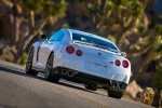 2014 Nissan GT-R Coupe in Pearl White - Driving Rear Left View