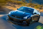 2014 Nissan GT-R Track Edition in Jet Black Pearl - Driving Front Left Three-quarter View