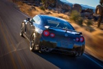 2014 Nissan GT-R Track Edition in Jet Black Pearl - Driving Rear Left View