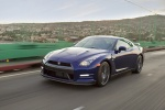 2014 Nissan GT-R Coupe in Deep Blue Pearl - Driving Front Left Three-quarter View