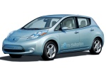 2012 Nissan Leaf in Blue Ocean - Static Front Left Three-quarter View