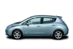 2012 Nissan Leaf in Blue Ocean - Static Side View