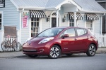 2013 Nissan Leaf in Cayenne Red - Static Front Left Three-quarter View