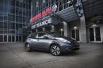 2014 Nissan Leaf in Gun Metallic - Static Front Right Three-quarter View
