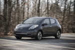 2014 Nissan Leaf in Gun Metallic - Driving Front Left View