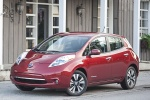 2014 Nissan Leaf in Cayenne Red - Static Front Left View