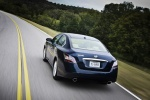 2013 Nissan Maxima in Navy Blue Metallic - Driving Rear Left View