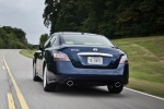 2013 Nissan Maxima in Navy Blue Metallic - Driving Rear View