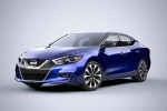 2016 Nissan Maxima SR Sedan in Deep Blue Pearl - Static Front Left Three-quarter View