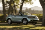 2011 Nissan Murano CrossCabriolet in Caribbean Pearl - Driving Front Right Three-quarter View