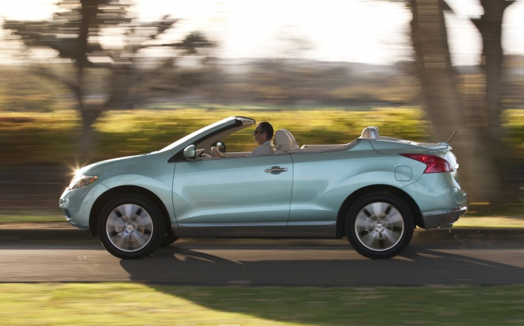 Driving 2013 Nissan Murano CrossCabriolet from a left side view