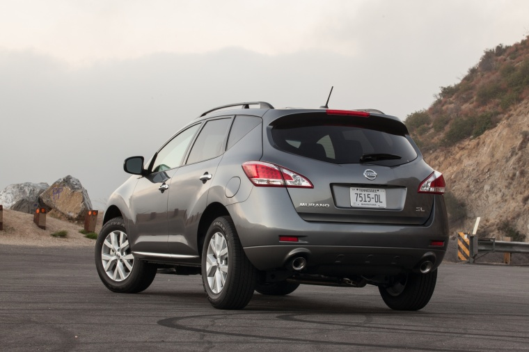 2013 Nissan Murano SL in Gun Metallic from a rear left view