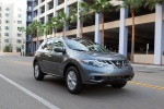 2013 Nissan Murano SL in Gun Metallic - Driving Front Right Three-quarter View