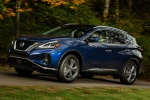 2019 Nissan Murano Platinum AWD in Deep Blue Pearl - Driving Front Left Three-quarter View