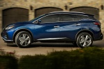 2019 Nissan Murano Platinum AWD in Deep Blue Pearl - Driving Left Side View