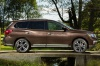 2020 Nissan Pathfinder Platinum 4WD in Mocha Almond Pearl from a right side view