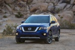 2020 Nissan Pathfinder Platinum 4WD in Caspian Blue Metallic - Static Front Left View