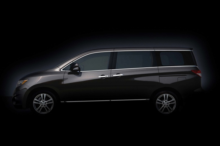 2012 Nissan Quest in Twilight Gray from a side view