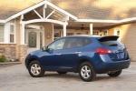2010 Nissan Rogue 360 in Indigo Blue Metallic - Static Rear Left Three-quarter View