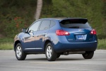 2010 Nissan Rogue 360 in Indigo Blue Metallic - Driving Rear Left Three-quarter View