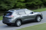 2015 Nissan Rogue SL AWD in Arctic Blue Metallic - Driving Rear Right Three-quarter View