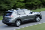 2016 Nissan Rogue SL AWD in Arctic Blue Metallic - Driving Rear Right Three-quarter View
