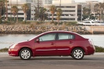 2010 Nissan Sentra SL Sedan in Red Brick Pearl - Static Left Side View