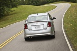 2012 Nissan Sentra SR Special Edition Sedan in Brilliant Silver - Driving Rear View