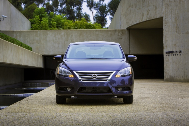 2013 Nissan Sentra SL in Amethyst Gray from a frontal view