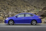 2013 Nissan Sentra SR in Metallic Blue - Static Side View