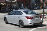 2018 Nissan Sentra SR Turbo in Brilliant Silver - Driving Rear Left Three-quarter View