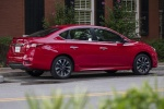 2018 Nissan Sentra SR Turbo in Red Alert - Static Rear Right Three-quarter View