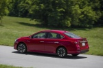 2018 Nissan Sentra SR Turbo in Red Alert - Driving Rear Left Three-quarter View