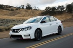 2018 Nissan Sentra NISMO in Aspen White - Driving Front Left Three-quarter View