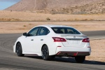 2018 Nissan Sentra NISMO in Aspen White - Driving Rear Left View