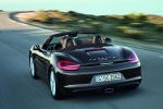 2014 Porsche Boxster in Anthracite Brown Metallic - Driving Rear Left View