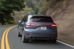 2019 Porsche Cayenne AWD in Biscay Blue Metallic - Driving Rear Left View