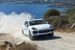 2019 Porsche Cayenne AWD in White - Driving Front Right View